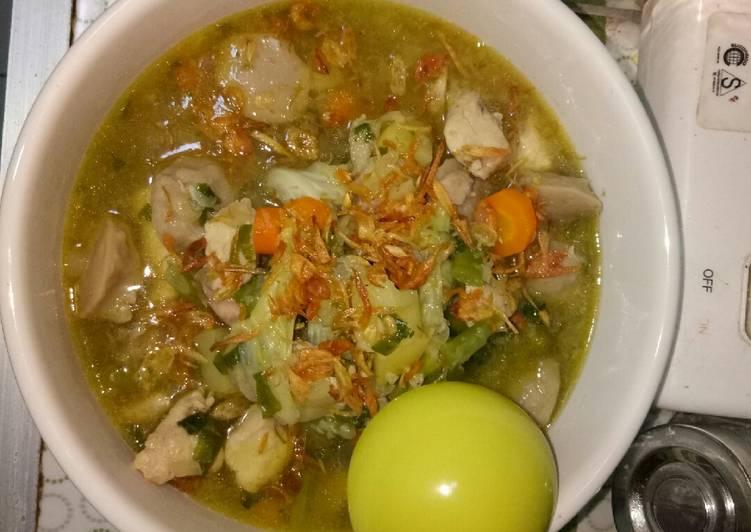 Sup daging ayam super gampang