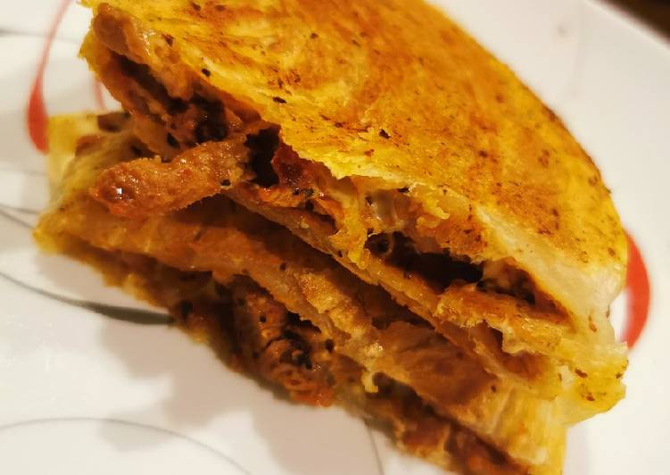 Simple Way to Prepare Super Quick Homemade Cheezy Ground Beef Quesadillas