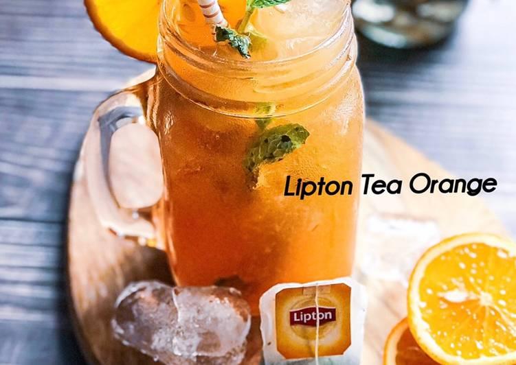 Lipton Tea Orange #maratonraya #minuman #minggu2 - resepipouler.com