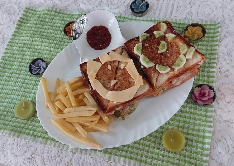 Recipe of Favorite Paneer veg mayonnaise sandwich
