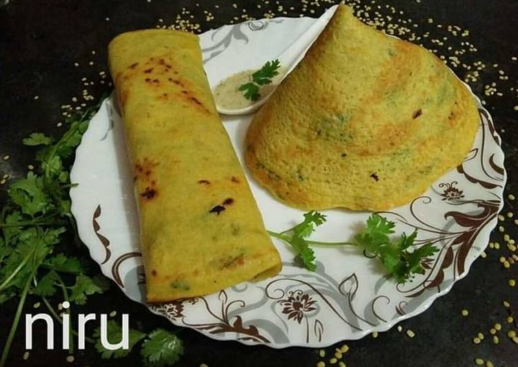 Grandmother's Dinner Ideas Quick Moong dal Dosa