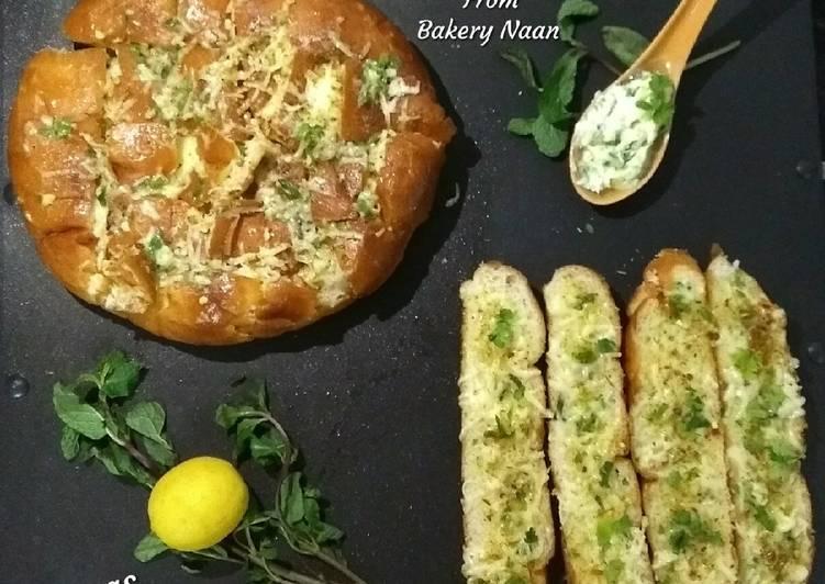Cheesy Garlic Bread From Bakery Naan