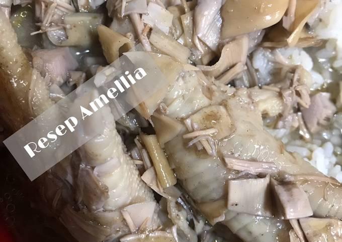 Lodeh kecombrang (jantung pisang) mix ceker ayam