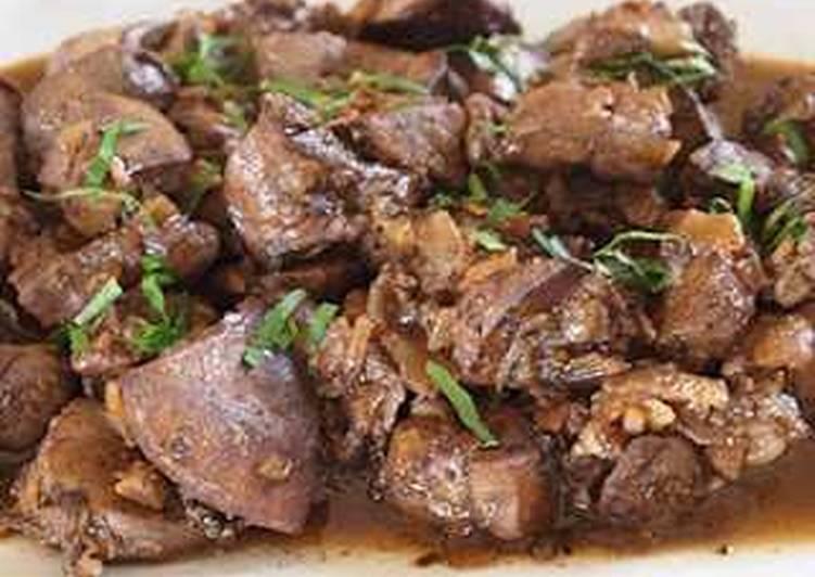 Stirfry beef liver