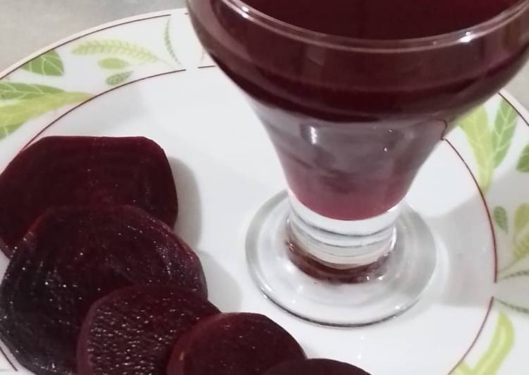 Steps to Prepare Award-winning Beet root juice