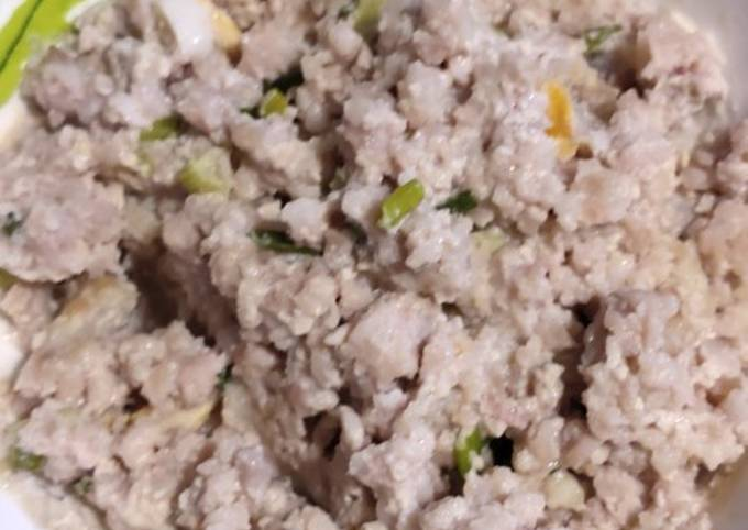 Easiest Way to Make Homemade Ground Pork with Spring Onion