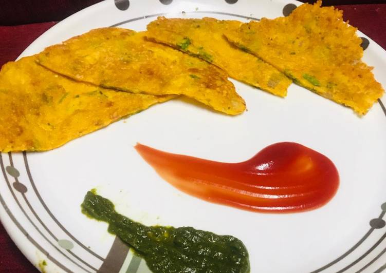 10 Minute Recipe of Speedy Besan chilla