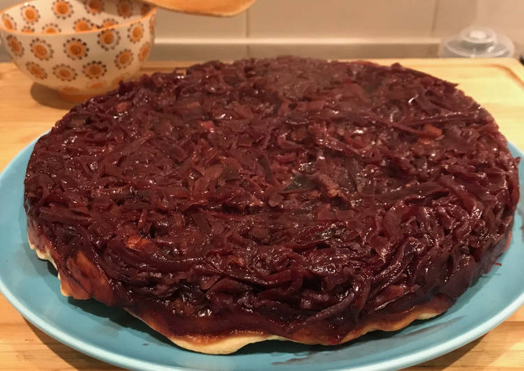 recette Tarte Tatin au Chou Rouge Le plus simple