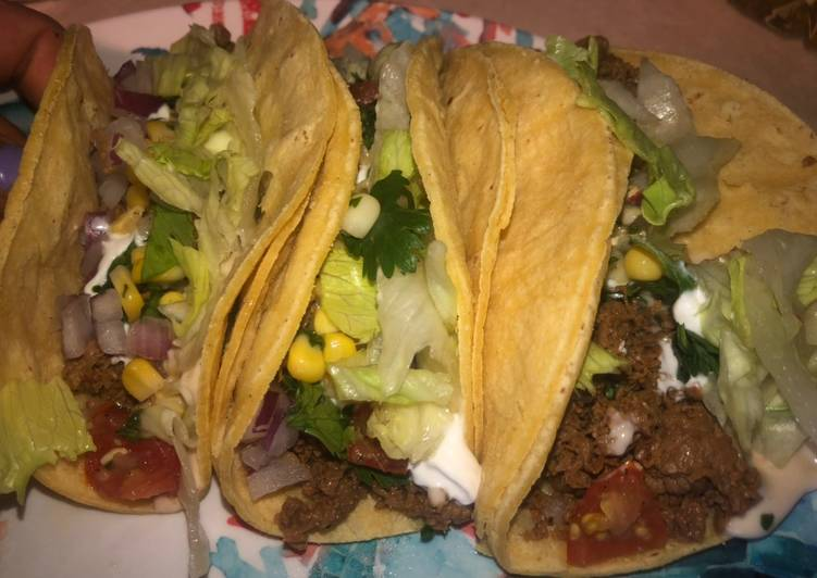 Loaded steak tacos 🌮