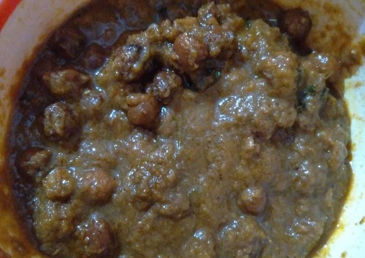 Recipe of Super Quick Homemade Kala chana / black chickpeas