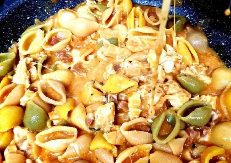 Easiest Way to Prepare Quick My Chicken & Chorizo Mix Conchiglie 💖