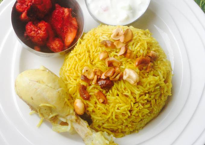 Chicken Biryani ~ a pressure cooker recipe