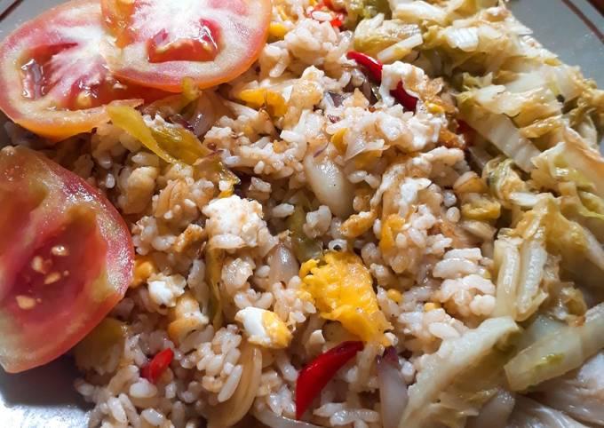 Nasi Goreng Campur Sayur-Telur Orak Arik (Mudah Membuatnya)