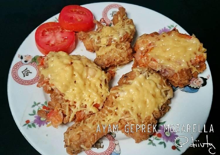 Ayam Geprek Mozarella Tanpa Oven