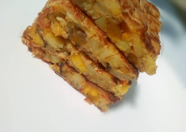Potato and plantain omelette