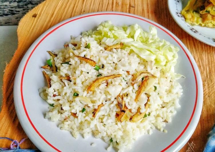Nasi Goreng Putih Ikan Teri