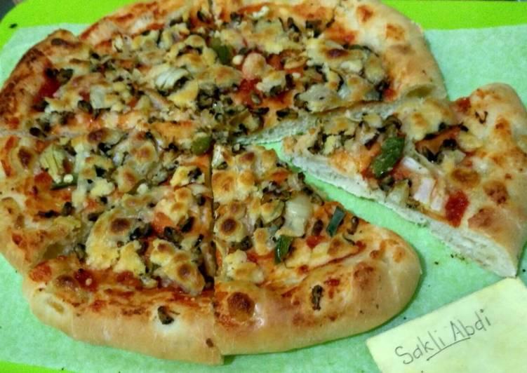 Pizza jamur kupang