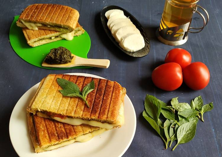 Simple Way to Prepare Speedy Caprese pesto grilled sandwich