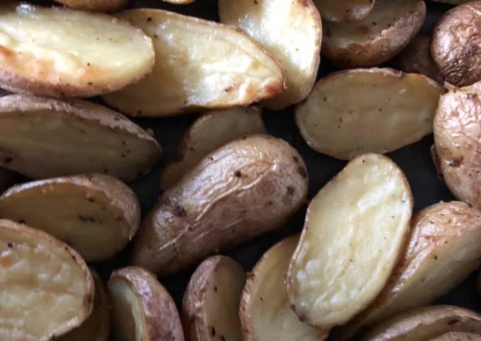 Basil Oil Roasted Potatoes