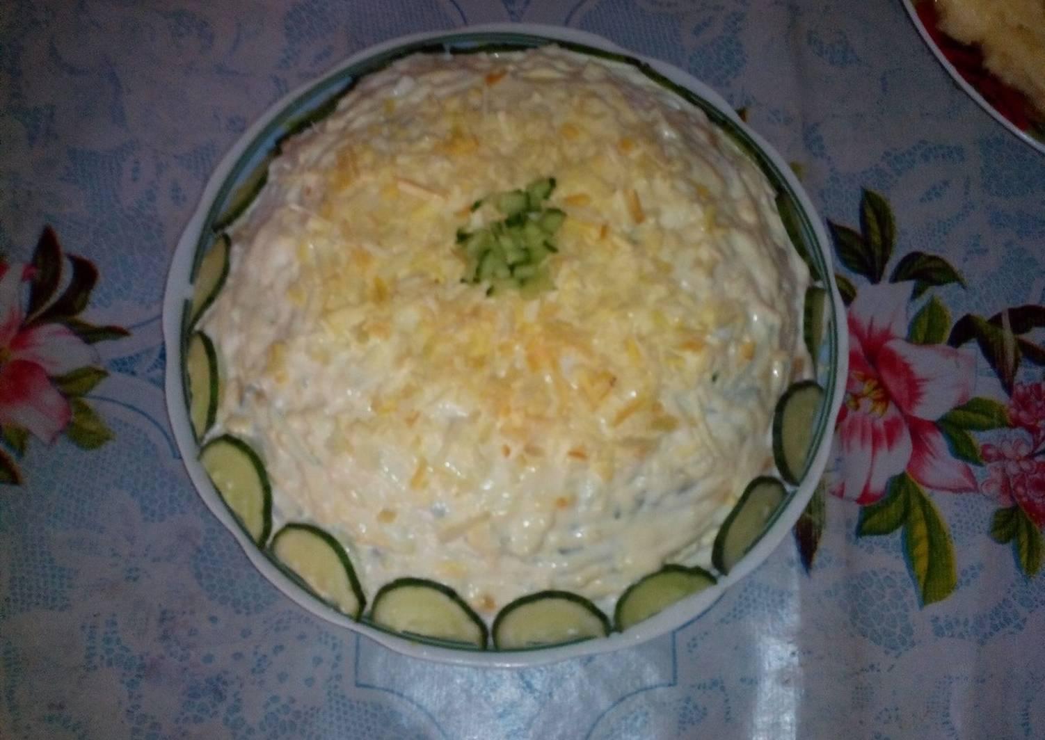 Салат белая ночь рецепт с фото пошагово упражнение столб