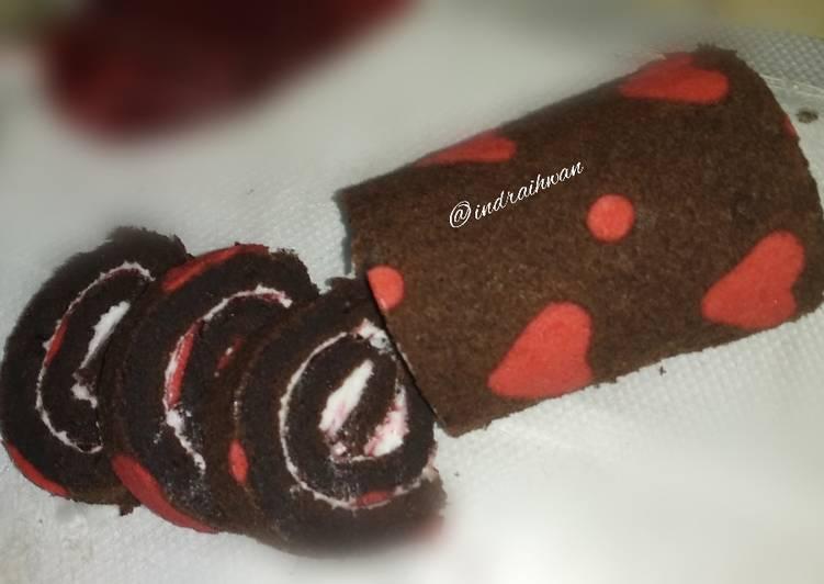 Patterned Roll Cake (love pattern)