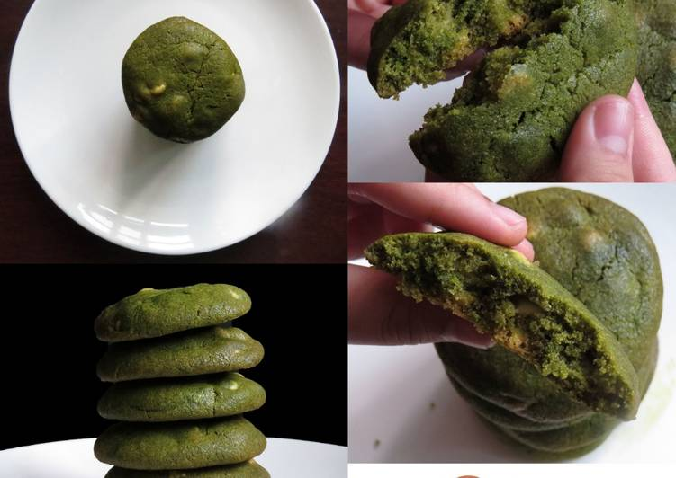 Simple Way to Prepare Super Quick Homemade White Chocolate Matcha Cookies