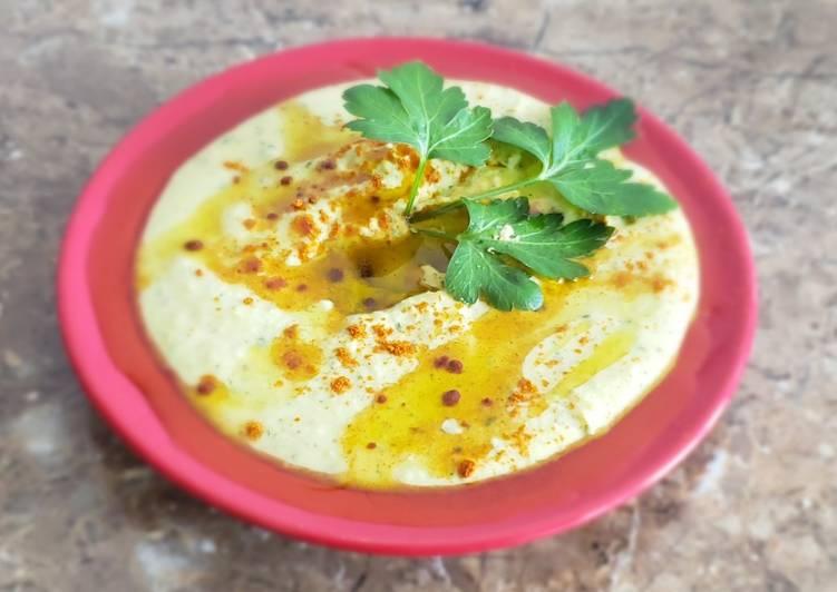 Hummus de perejil