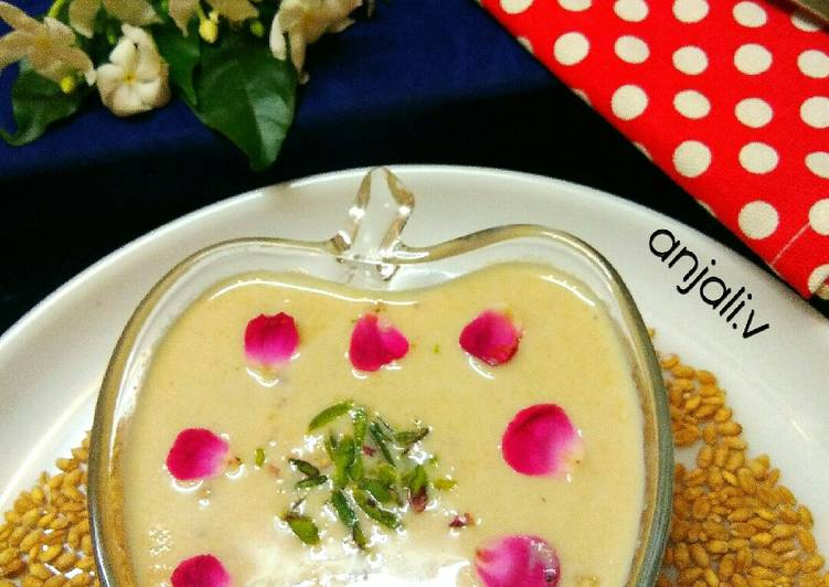 Step-by-Step Guide to Make Homemade Healthy Wheat Grain kheer