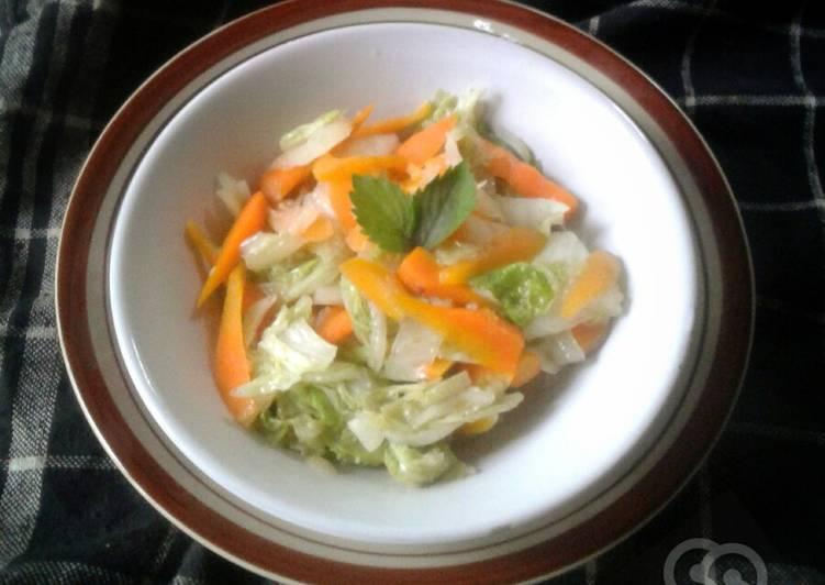 Tumis sapu(SAwi PUtih)wortel