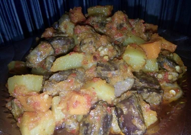 Sambal goreng ati ampela,kentang,wortel