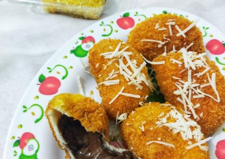 Resep Roti Tawar Coklat 4 Bahan🍫 Paling Mudah
