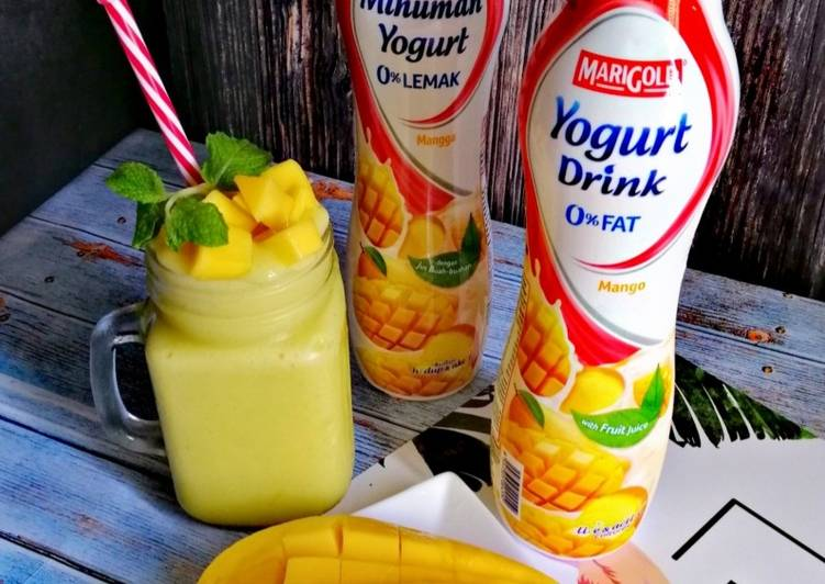 Mango mint yogurt smoothies - resepipouler.com
