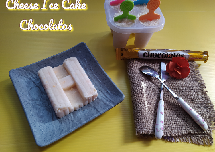 Cheese Ice Cake Chocolatos  (3 BAHAN ANTI RIBET)