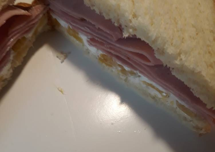Black Forest Ham with Pineapple and Goat Cheese