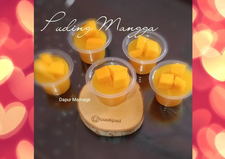 Puding Mangga with topping