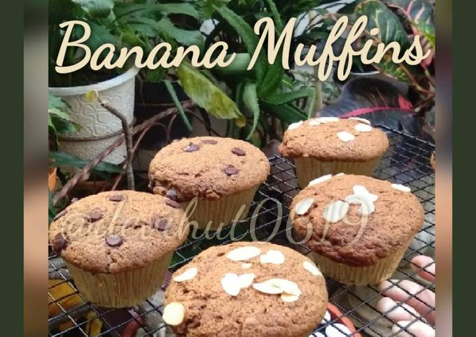Moist Banana Muffin Praktis dan Mudah