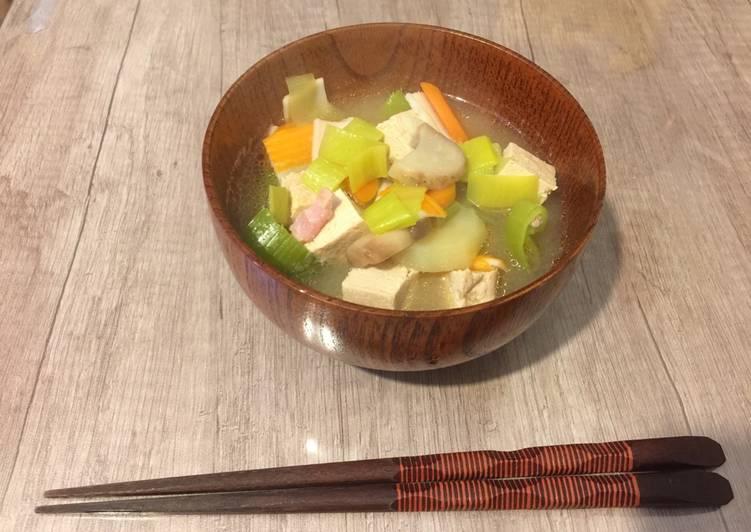 Comment Faire Des Soupe TONJIRU au Miso et Tofu