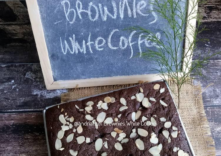 Brownies White Coffee Putih Telur