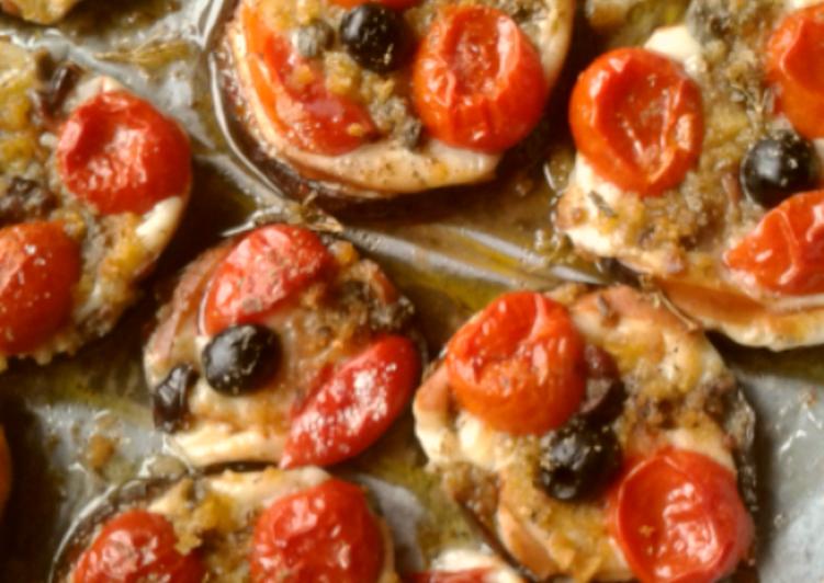 Antipasto di Melanzane alla mediterranea (ricetta light)