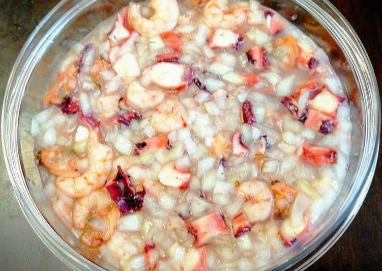 Recipe: Tasty Ceviche Mixto de Mariscos