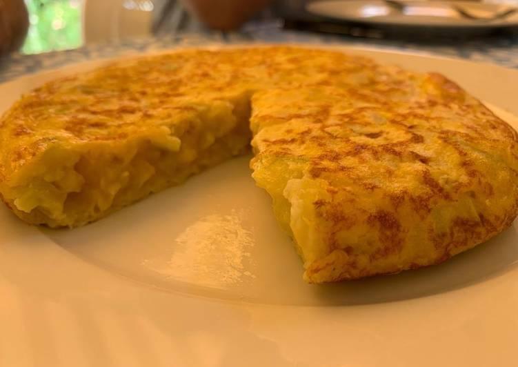 Tortilla de calabacín y patata ligera y facilisima