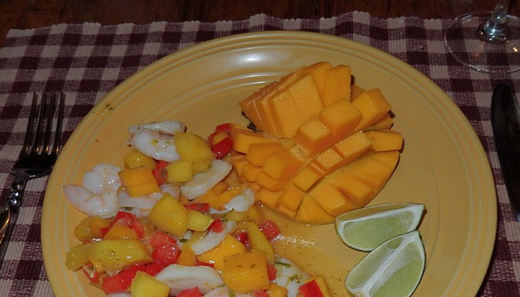 Recipe of Simple Shrimp and Scallop with Mango Salad
