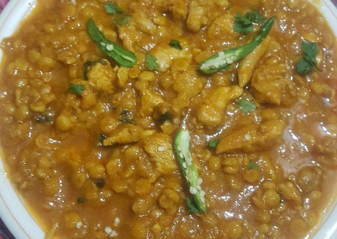 Recipe of Ultimate Title: special chana daal chicken