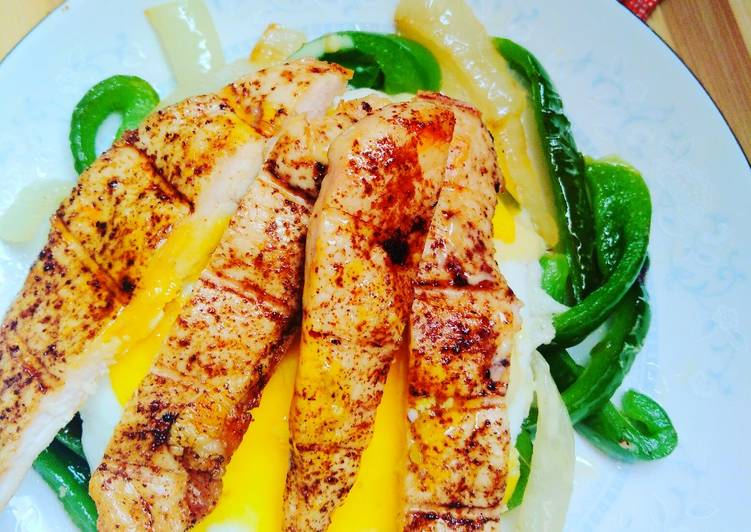 Easiest Way to Make Yummy Grilled chicken breast with egg