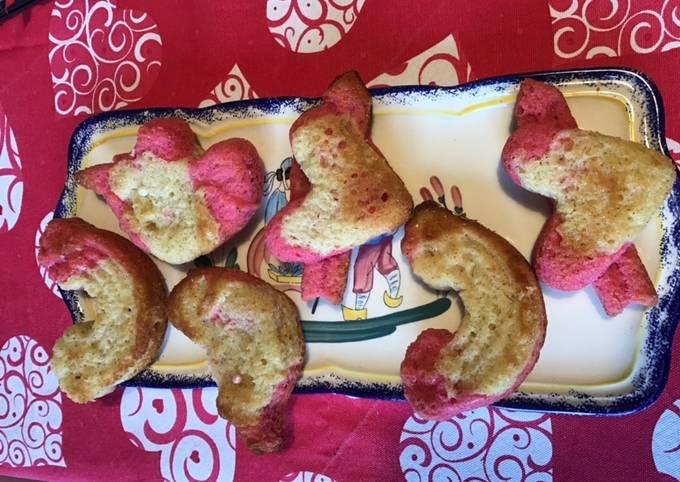 Gâteaux bicolores «saint Valentin» vanille et citron