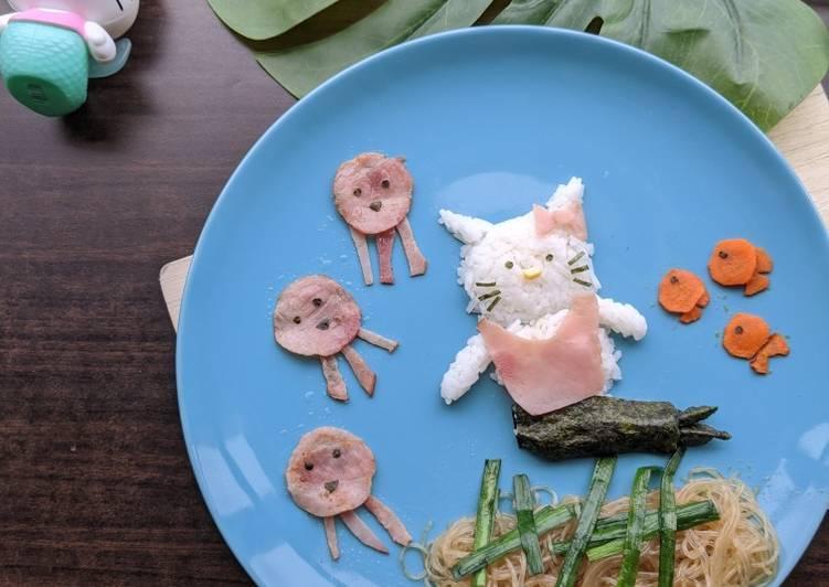 Steps to Prepare Award-winning Stir-fry Vermicelli Recipe (Hello Kitty Mermaid - Be yourself!)
