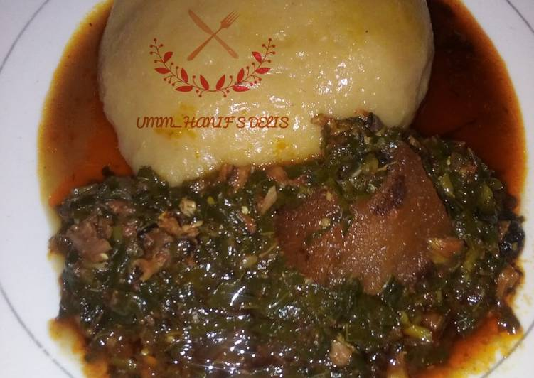 Foods That Can Make Your Mood Better Water leaf soup with cassava swallow