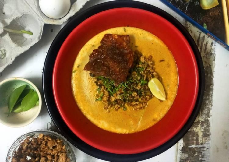 Laksha flavoured Savoury Custard