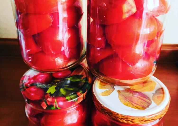 рецепты помидоры дольками