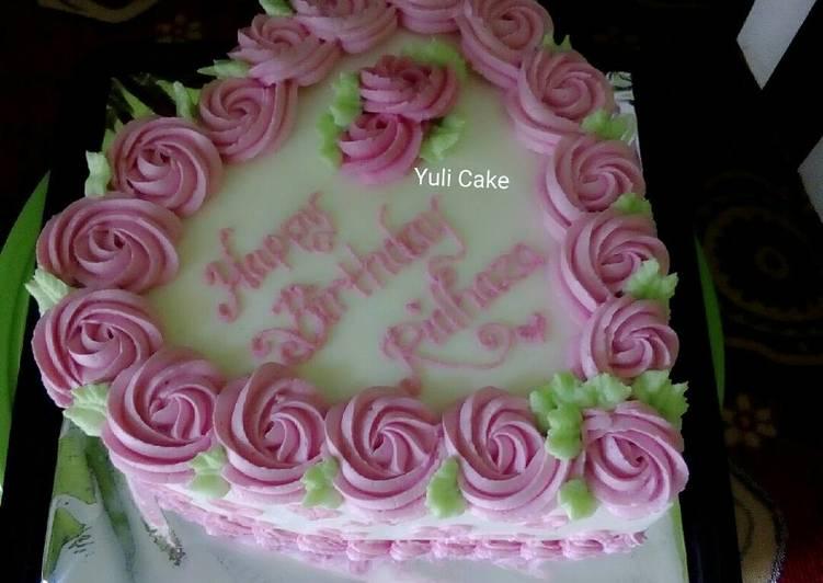 Resep Birthday Cake Bentuk Love Oleh Yuli Janu Cookpad